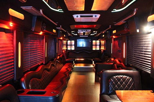 Party Bus 50 Passengers Interior